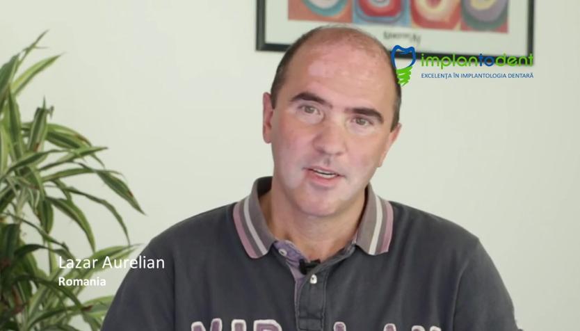 Testimonial pacient: Lazar Aurelian, Romania